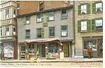 Paul Revere House.Boston MA Advert Postcard p9233