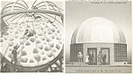 Corning  NY Telescope Disc and Civic Museum Postcard p9265