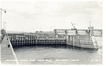 Click here to enlarge image and see more about item p9300: Bellevue,IA, Locks and Dam #12 Real Photo Postcard