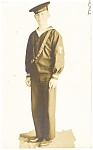 Click here to enlarge image and see more about item p9315: US Navy Sailor Real Photo Postcard p9315
