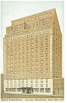Hotel Chesterfield New York City Postcard p9349