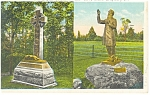 Click here to enlarge image and see more about item p9353: Gettysburg PA Father Corby Statue, Postcard p9353