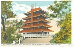 Reading,PA,  Pagoda on Mt Penn, Postcard