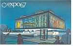 Click here to enlarge image and see more about item p9386: Expo 67 Quebec Pavilion Postcard p9386