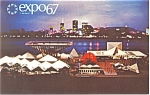 Click here to enlarge image and see more about item p9423: Expo 67 Canadian Pavilion Postcard