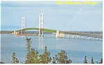 Mackinac Straights Bridge, MI  Postcard