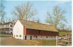 Hopewell Village PA Restored Barn Postcard p9473