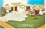 Click here to enlarge image and see more about item p9482: Quebec Industries Pavilion, Expo 67 Postcard
