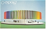 Click here to enlarge image and see more about item p9483: The Kaleidoscope Pavilion Expo 67 Postcard p9483