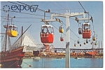 Click here to enlarge image and see more about item p9485: Sky Ride on La Ronde Expo 67 Postcard p9485