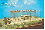 Click here to enlarge image and see more about item p9486: Pavilion of the UN, Expo 67 Postcard