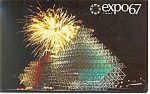 Click here to enlarge image and see more about item p9487: The Gyrotron, Expo 67 Postcard