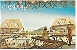 Click here to enlarge image and see more about item p9491: Man The Explorer, Expo 67 Postcard