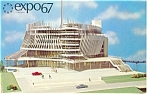 Click here to enlarge image and see more about item p9496: Pavilion of France, Expo 67 Postcard
