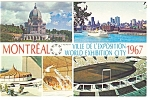 Montreal World Exhibition City 1967 Postcard