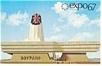 Click here to enlarge image and see more about item p9503: Great Britain Pavilion  Expo 67 Postcard p9503