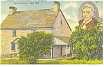 Reading, PA, Daniel Boone Birthplace Postcard