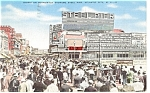 Click here to enlarge image and see more about item p9544: Boardwalk Crowd Steel Pier Atlantic City NJ  Postcard p9544