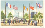 Information Booth 1939 NY World s Fair Postcard p9552