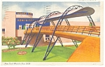 Click here to enlarge image and see more about item p9555: Bridge of Tomorrow, 1939 NY Worlds Fair Postcard
