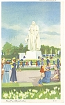 Click here to enlarge image and see more about item p9557: George Washington 1939 NY World s Fair Postcard p9557