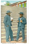 Amish Men at Lancaster County,PA Postcard p9572