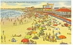 Ocean City, NJ, Beach From Concert Hall Postcard