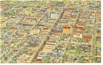 Click here to enlarge image and see more about item p9586: Aerial View of Albuquerque NM  Postcard p9586