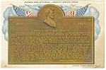 Click here to enlarge image and see more about item p9600: Gettysburg PA Wills Building Bronze Tablet Postcard p9600