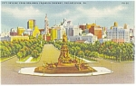 Philadelphia,PA, The City Skyline Postcard