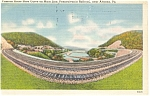 Altoona  PA Horse Shoe Curve on Main Line Postcard p9624