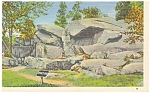 Click here to enlarge image and see more about item p9631: Gettysburg PA Devil s Den Postcard p9631