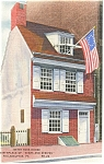 Click here to enlarge image and see more about item p9643: Philadelphia PA Betsy Ross House Postcard p9643