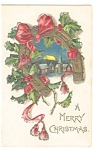 A Merry Christmas  Postcard 1906