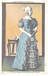Click here to enlarge image and see more about item p9708: Dress of Sarah Childress Polk Postcard p9708