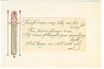 Click here to enlarge image and see more about item p9717: Love Poem Hallmark Repro Postcard p9717
