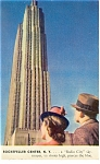 New York,NY, Rockefeller Center, Macy Postcard 1940