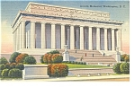 Washington, DC, Lincoln Memorial Postcard 1945