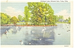 Click here to enlarge image and see more about item p9816: Tulsa, OK, Wildfowl Lake, Mohawk Park  Postcard 1947