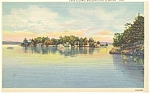 Burlington, VT, Cave Island, Postcard 1947