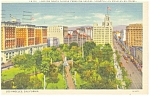 Los Angeles, CA Pershing Square Postcard 1938