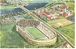 Click here to enlarge image and see more about item p9828: Cambridge MA Harvard Stadium Postcard p9828
