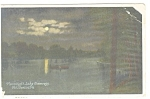 Mt Gretna, PA, Moonlight on Lake Conewago Postcard
