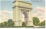Valley Forge, PA National Memorial Arch Postcard