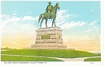 Anthony Wayne Monument Valley Forge PA  Postcard p9889