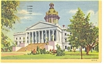 Columbia, SC State Capitol Linen Postcard 1953