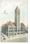 Click here to enlarge image and see more about item p9925: Pittsburgh,PA Court House Postcard 1908