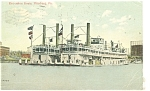 Click here to enlarge image and see more about item p9928: Pittsburgh,PA Excursion Boats Postcard 1912