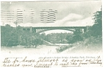 Click here to enlarge image and see more about item p9932: Pittsburgh PA Schenley Park Bridge Postcard p9932 1905