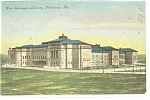 Click here to enlarge image and see more about item p9933: Pittsburgh,PA Carnegie Library Postcard 1908